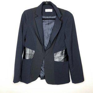🌮 Calvin Klein Faux Leather Accented Blazer Black